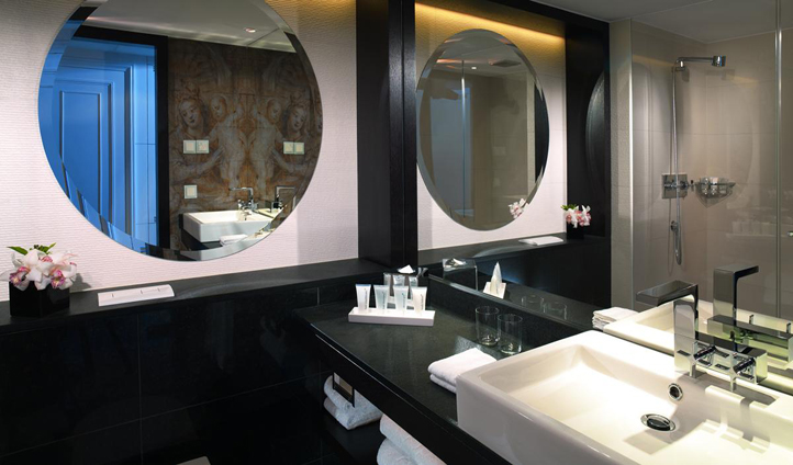 All the rooms feature sleek and modern bathrooms
