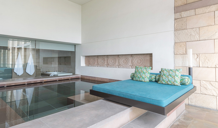 Recline by your own private plunge pool