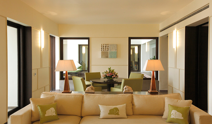 The spacious suites all feature their own sitting rooms