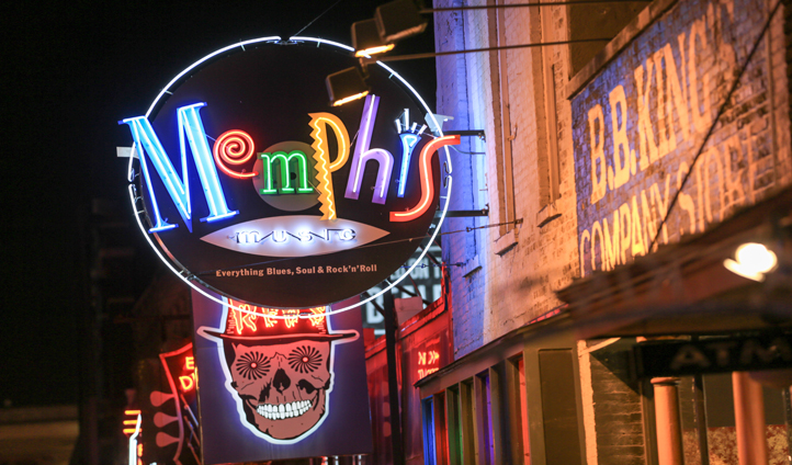 Stroll down Beale Street and take in the sights of Memphis