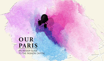 'Our Paris' map logo with paint splodge