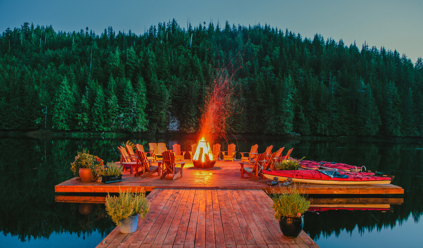 Pull up a chair and swap stories on the floating fire dock