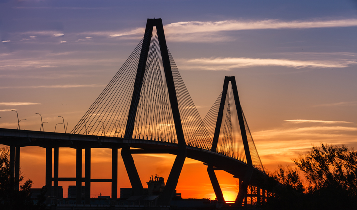 Head up to the Ravenal Bridge for some amazing views