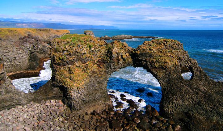 Gaktlettur Rock Arch, Iceland