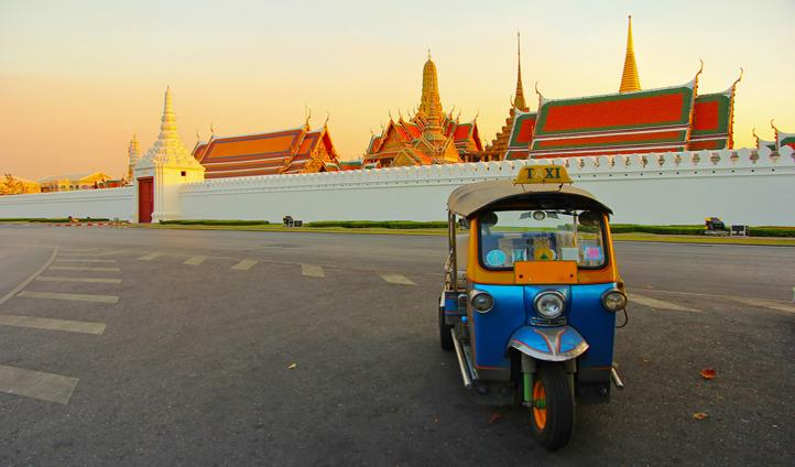Hold on tight as you whizz around Bangkok in a tuk tuk