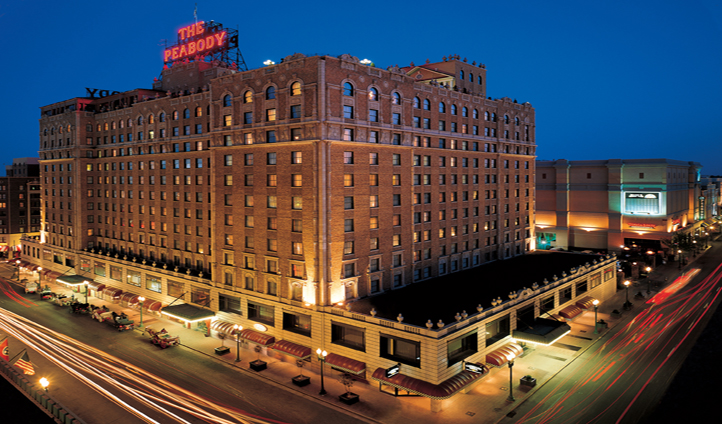 The iconic Peabody Hotel