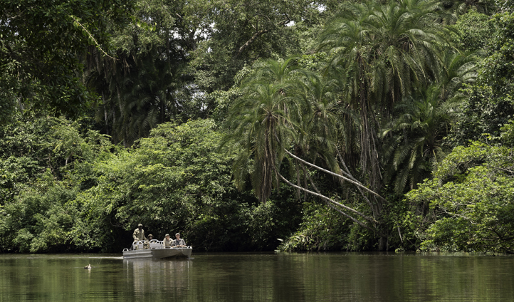 Explore the Lekoli River, and those that call it home, by boat