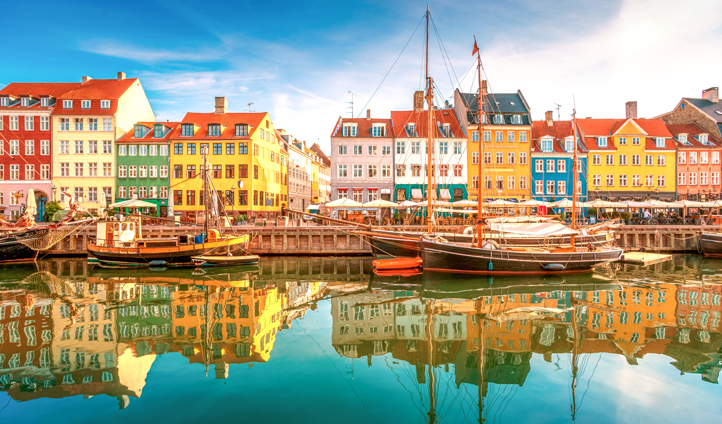 Stroll along the beautiful streets and canals of Copenhagen