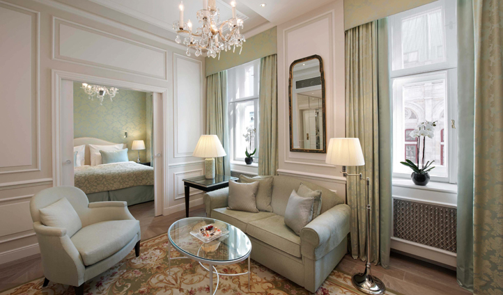The elegant furnishings of the Executive Suites