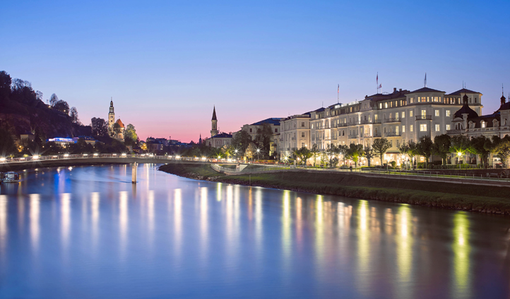 Hotel Sacher overlooks the River Salzach