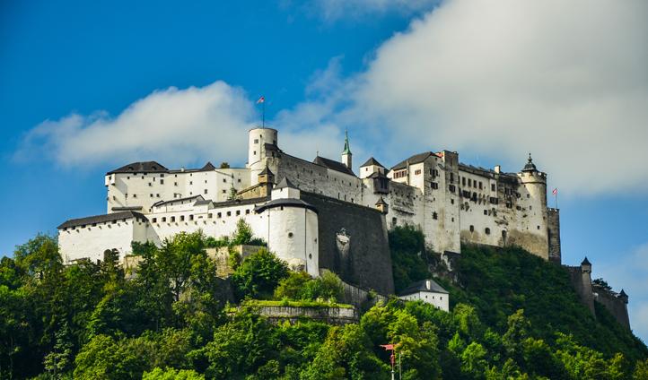 Hohensalzburg Fortress keeps watch over Salzburg