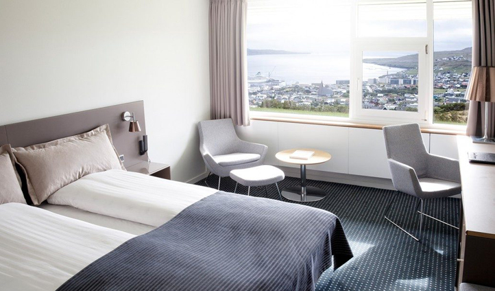 All 106 rooms feature stunning views out towards the North Atlantic Ocean