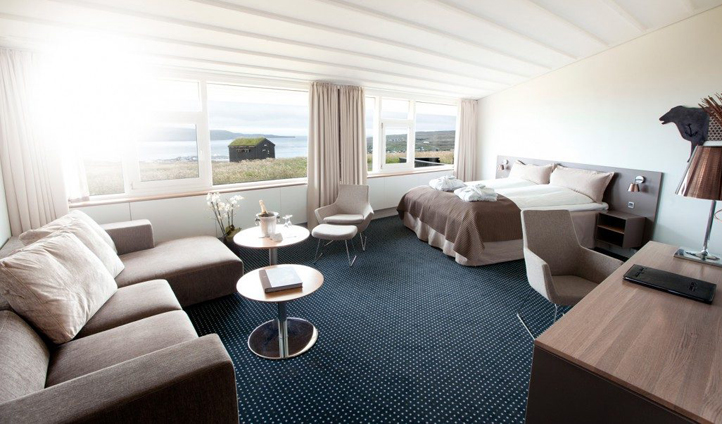 The spacious Wedding Suites at Hotel Føroyar