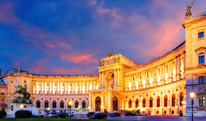 The Hofburg Imperial Palace was home to the Austrian monarchy for over 600 years