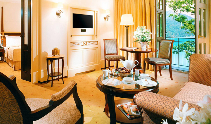 Junior Suites are spoilt with views over the tranquil lake