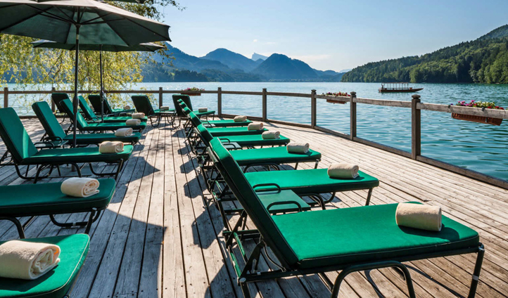 Spend summer days lounging out on the jetty