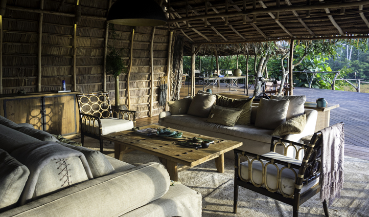 The lounges at Odzala are the perfect place to relax at the end of the day