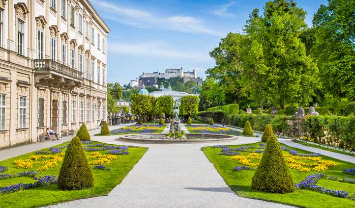 The beautiful Mirabell Palace & Gardens in the heart of Salzburg