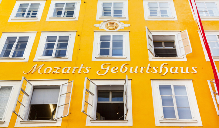 Visit the house Mozart grew up in and see some of his childhood belongings