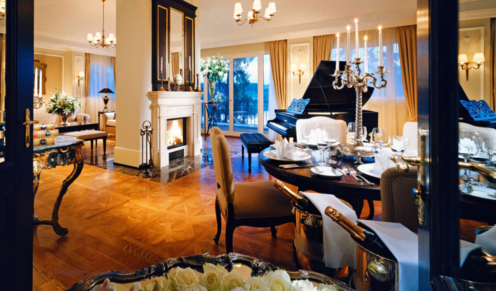 The opulent Mozart Suite comes complete with a grand piano