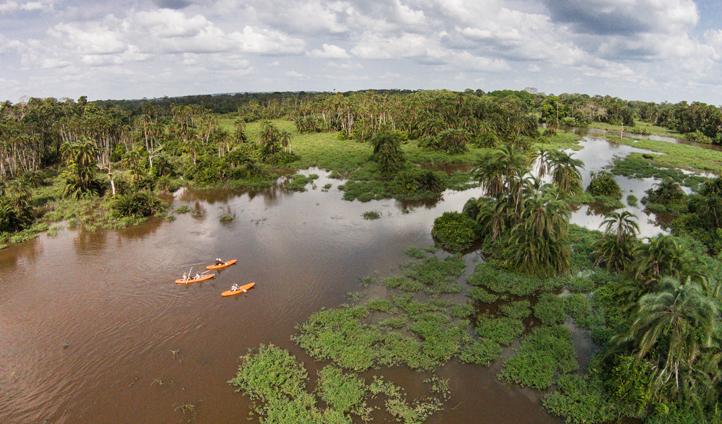 Kayaking at Odzala Discovery Camps