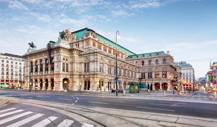 The world famous Vienna State Opera House