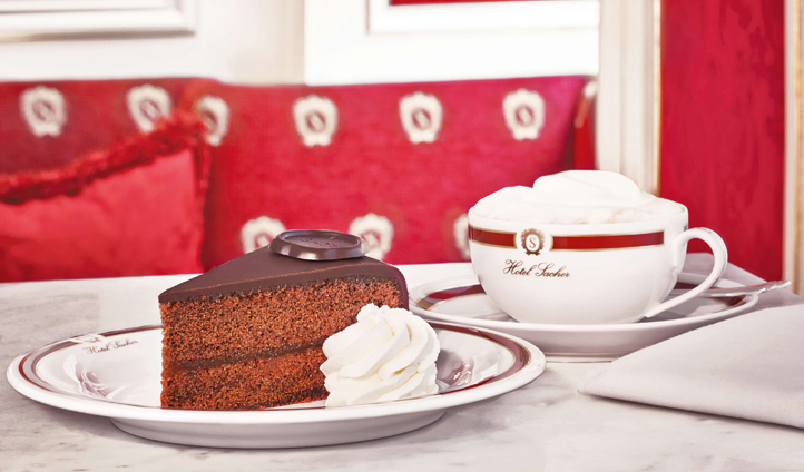 Treat yourself to a slice of the famous Sachertorte