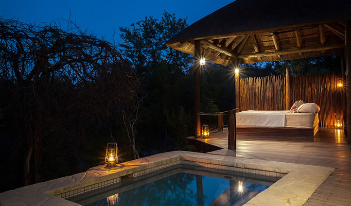 Watch the wildlife from the privacy of your own plunge pool and sala