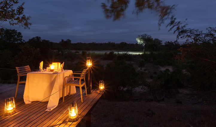 A romantic spot for two overlooking the bush