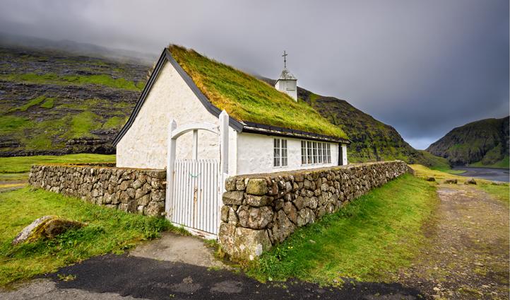 The village church in Saksun is a real hidden gem