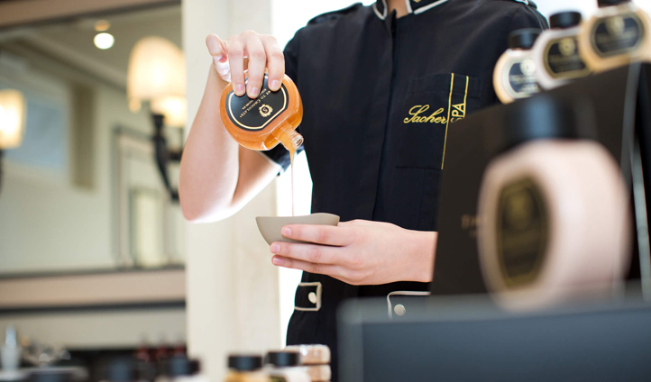 Chocoholics will fall in love with the chocolate treatments at Sacher Boutique Spa