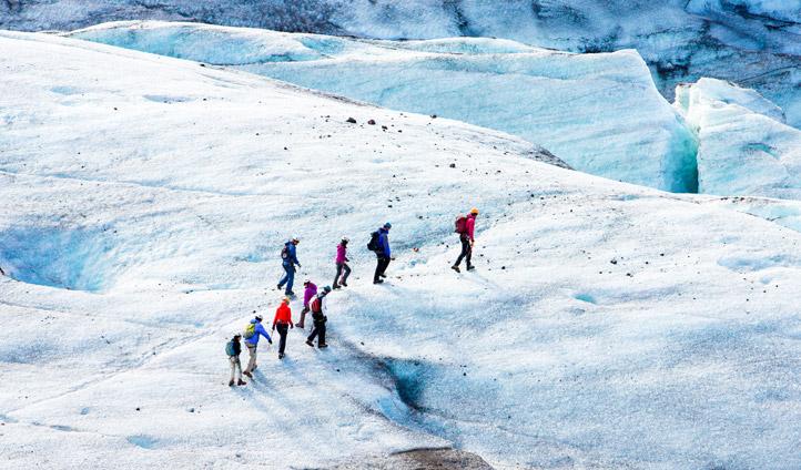 Hike up Vatnajökull Glacier