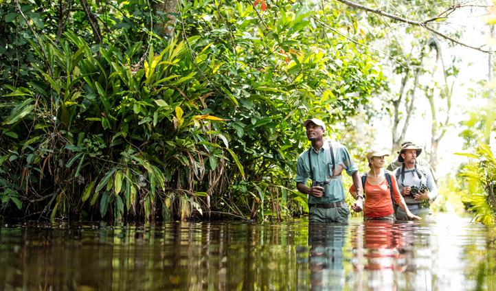 Prepare to get wet as you wade through Lango Bai