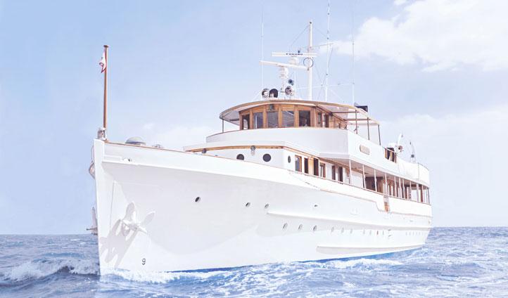 A yacht in Bermuda