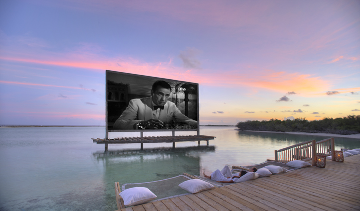 Grab some popcorn at Cinema Paradiso, the Maldives' first silent overwater cinema