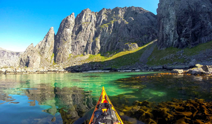 Spend your days kayaking through the fjords