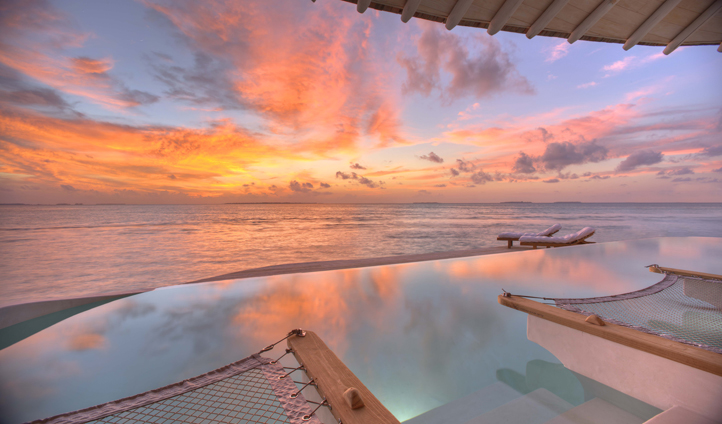 Admire breath-taking sunsets from your private infinity pool