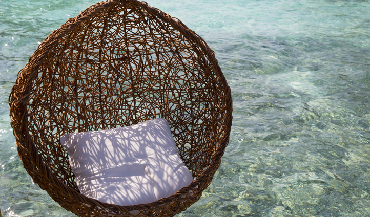 Grab a book and curl up in your ocean swing