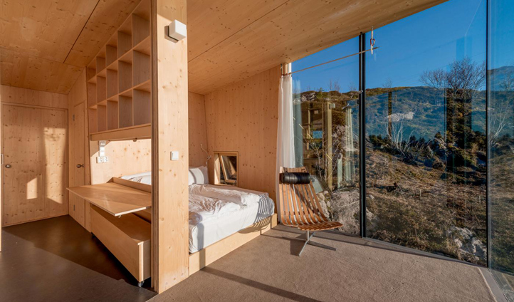 A cosy space to retreat to at the end of the day