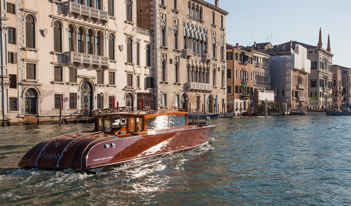 Aman Venice boasts its own luxurious boat to get you where you need to be