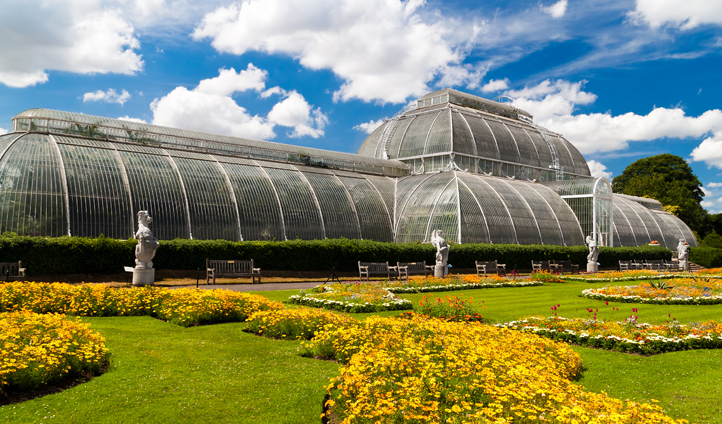 The iconic Palm House of Kew Gardens