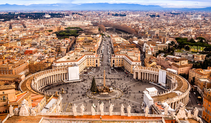 Climb to the top of St. Peter's Basilica for incredible views of the Vatican