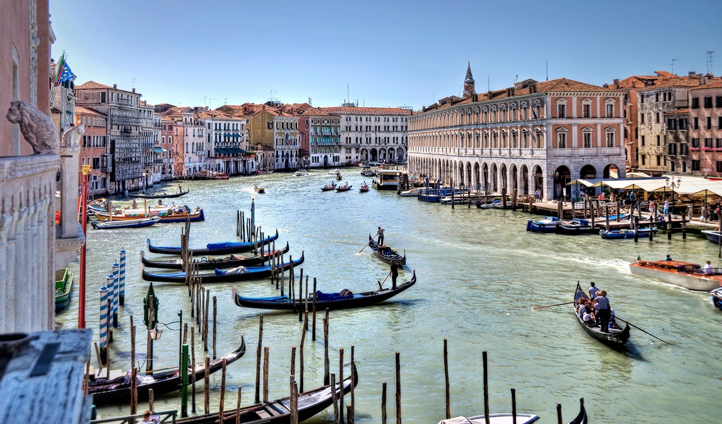 The iconic Grand Canal in Venice