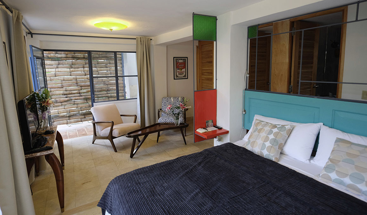 Enjoy splashes of colour in your private suite