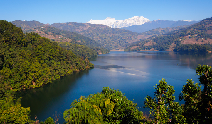 Picture-perfect views across Begnas Lake