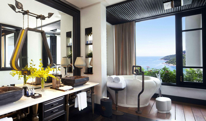 Lavish bathrooms overlooking breathtaking views