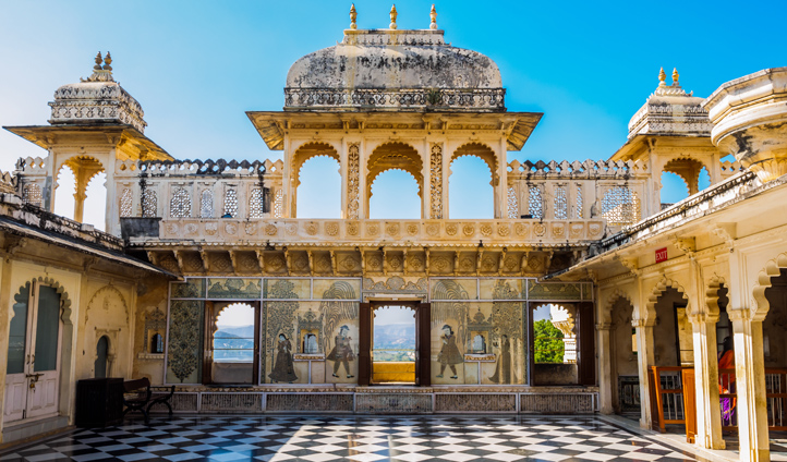 Stroll through the grounds of the City Palace in Udaipur