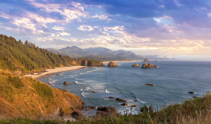 Look out over seven miles of beaches from Ecola State Park