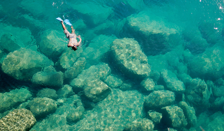 Snorkel the clear warm waters of Lake Malawi