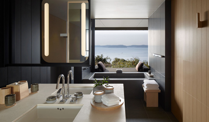 Sleek and modern bathrooms